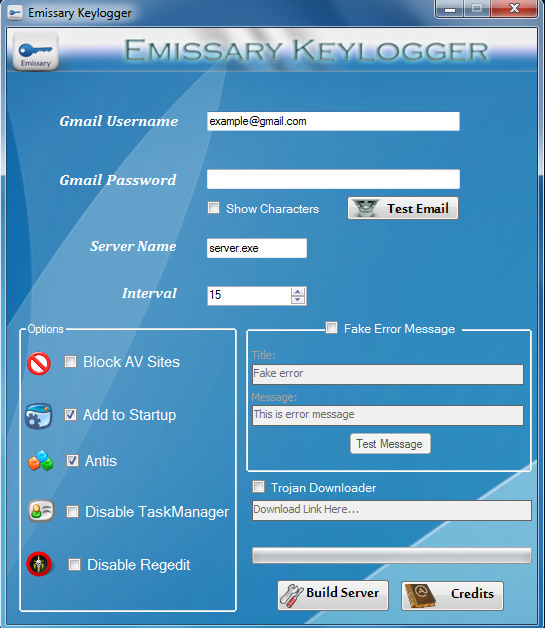 Keylogger password stealer download.